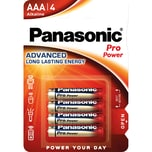 Panasonic Batterie Micro AAA Alkaline Nr. 00265999. LR03 1.5V. PA= 4Stk