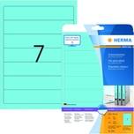Herma Rückenschild Nr. 5093 blau PA 140Stk schmal/kurz sk bedruckbar