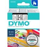 Dymo Schriftbandkassette S0720780 6mmx7m schwarz auf weiß43613 D1