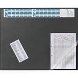 Durable Schreibunterlage schwarz Nr. 7204-01. mit Jahresplaner. 52x65mm. PVC