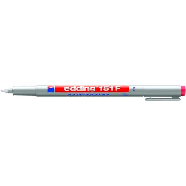 Edding Folienschreiber 151 S rot Strichstärke ca. 06mm non permanent