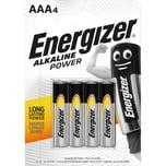 Energizer Batterie Alkaline Power AAA Nr. E300132600. 1.5V. Micro. LR03. 4Stk