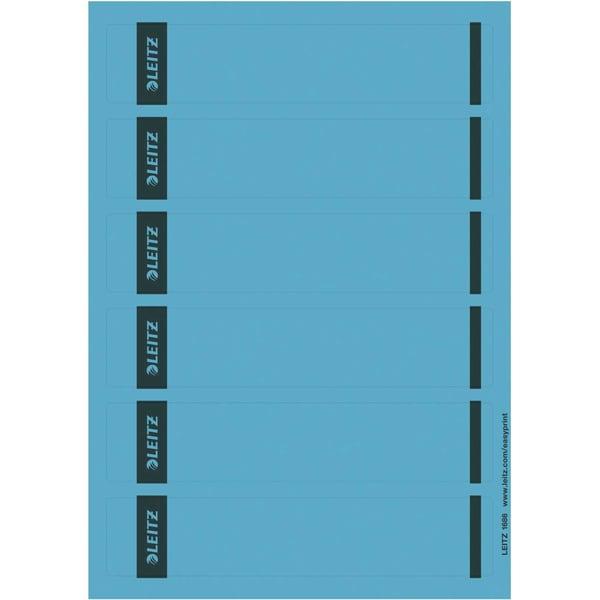 Leitz Rückenschild schmal/kurz blau Nr. 1686-20-35 sk PA 150St bedruckbar