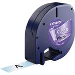Dymo Schriftbandkassette LetraTag S0721530 12mmx4m schwarz auf transparent