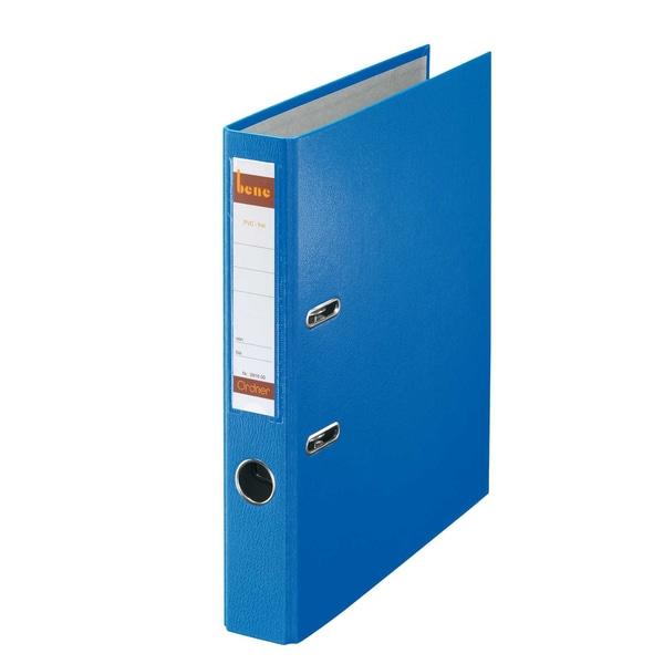 Bene Ordner 52 mm A4 blau PP 291600 BL mit WechselfensterKunststoff