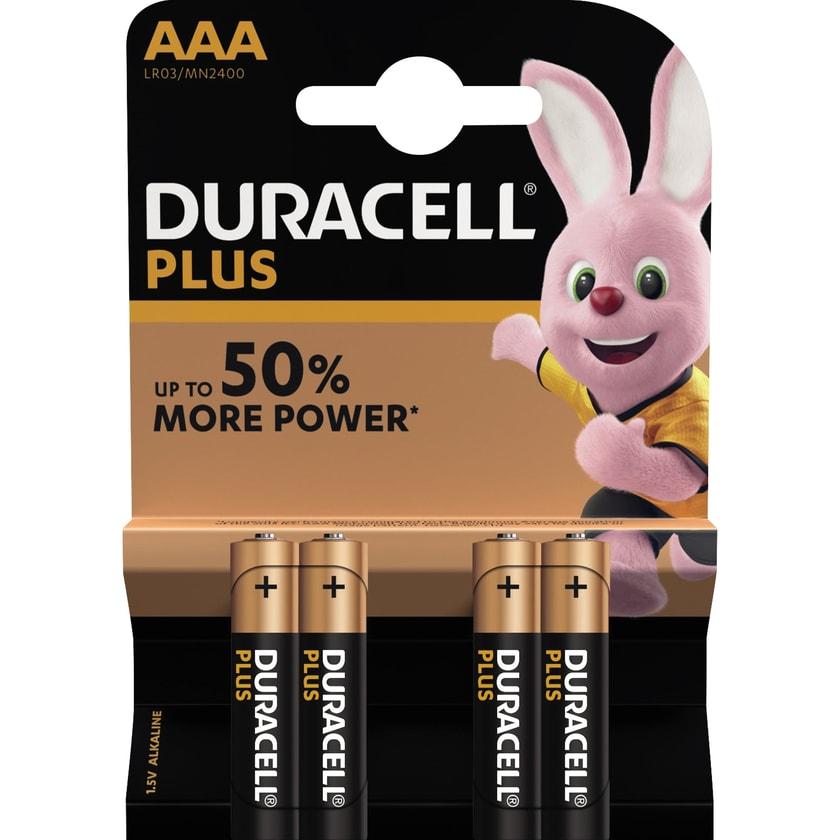 Duracell Batterie Plus Power AAA Nr. DUR018457. LR03. 1.5V. 1.500mAh.4Stk