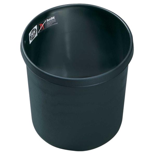 Helit Objektpapierkorb schwarz 12 Liter Nr. H6106395schwer entflammbarHöhe27cm