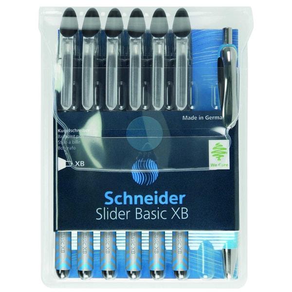 Schneider Kugelschreiber Slider Basic XB Nr. 50-151276 PA 6 Stück- schwarz
