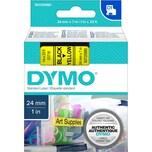 Dymo Schriftbandkassette S0720980 24mmx7m schwarz auf gelb 53718 D1