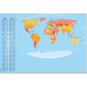 Sigel Schreibunterlage Weltkarte Nr. HO440. 59.5X41cm. 30Blatt. mit Folie