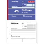 Herlitz Quittungsblock 403 A6 quer Blaupapier 2x 50Blatt Nr. 886614. nicht selbstdurchschreibend