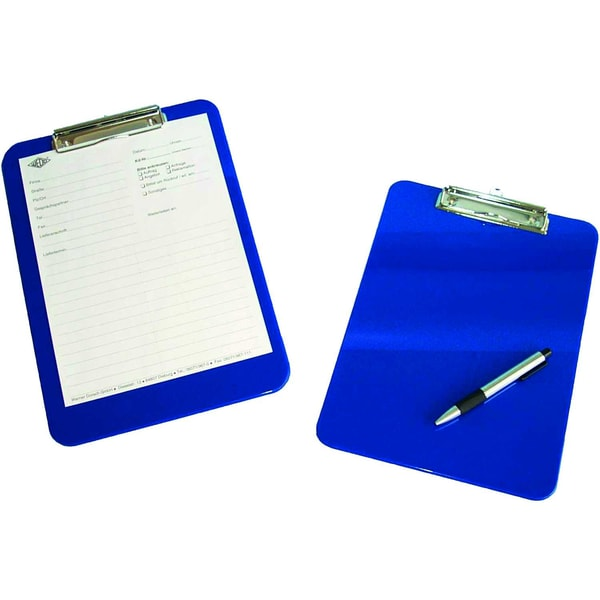 Wedo Klemmbrett A4 Polystyrol blau Nr. 57603 227x317cm