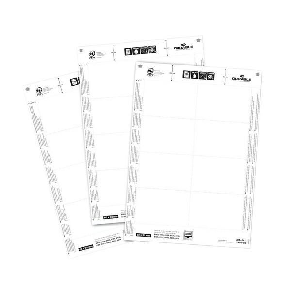 Durable Einsteckschild Badgemaker weiß Nr. 1456-02 60x90mm PA 160 Stück