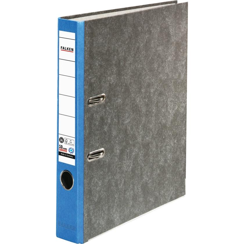 Falken Ordner Recycling A4 50mm blau Nr. 80023393 Wolkenmarmor Kantenschutz