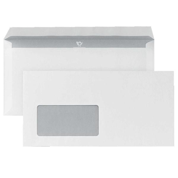 Posthorn Briefumschlag Dl Haftklebend Mit Fenster 80G Innendruck Weiß