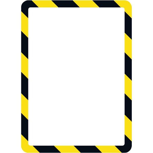 Tarifold Magnetrahmen Safety Line A4 Nr. 194974 gelb/schwarz PA 2 Stück
