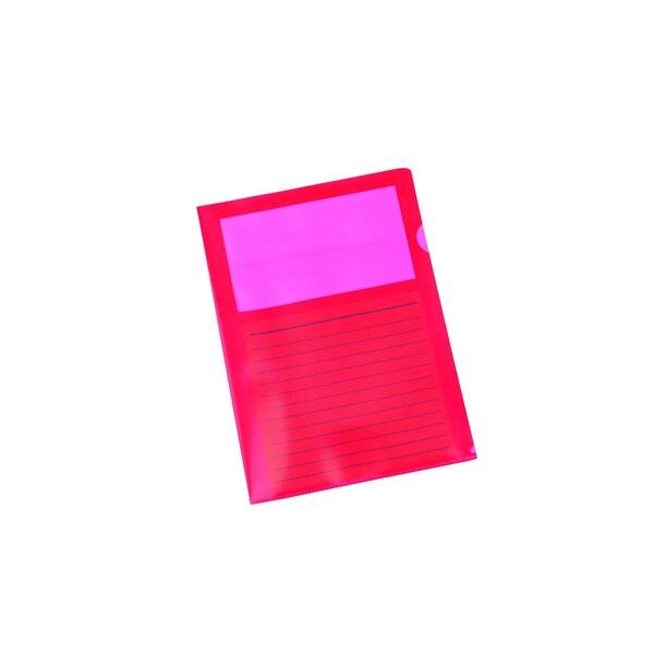 proOffice Sichthülle A4 mit Fenster rot 11118817-001 PP 10 St. oben/seitl.offen