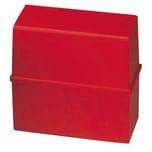 HAN Karteibox A6 quer Kunststoff für 300 Karten rot