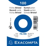 ExacomPTA Karteikarte A7 blanko weiß Nr. 10500SE. PA= 100Stk