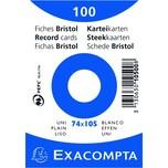 ExacomPTA Karteikarte A7 blanko weiß Nr. 10500SE PA 100 Stück