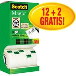 Scotch Klebeband Magic 810 19mm x 33m Nr. 8R14TPR PA 14 Stück