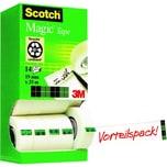 Scotch Klebeband Magic 810 19mm x 33m Nr. 8R14TPR PA 14 Stück