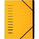 Pagna Ordnungsmappe A4 12 Fächer gelb Nr. 40059-05 Karton 1-12 280g/m²