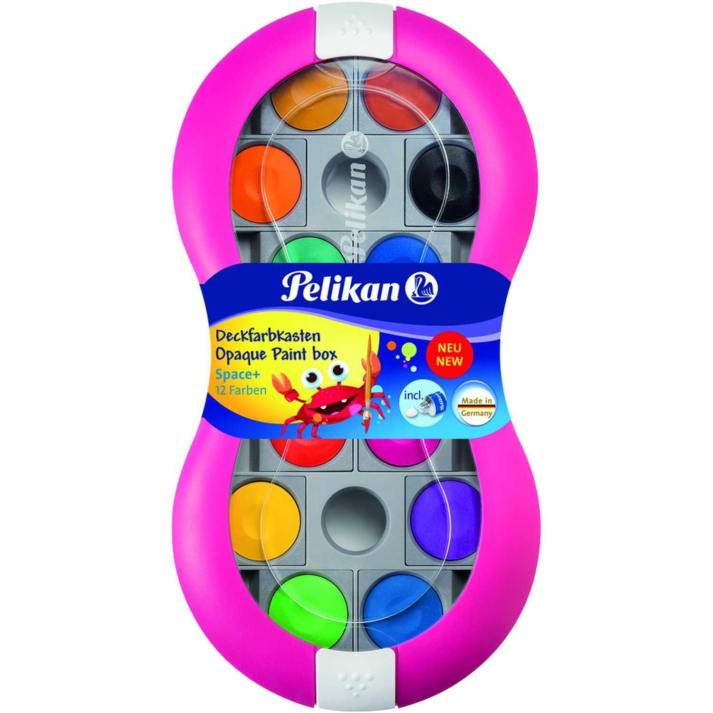 Pelikan Farbkasten Space+ 735 SP/12 Nr. 724625 12 Farben + Deckweiß magenta