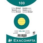 ExacomPTA Karteikarte A6 liniert gelb Nr. 10829SE. PA= 100Stk