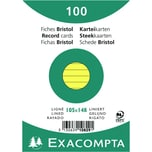 ExacomPTA Karteikarte A6 liniert gelb Nr. 10829SE PA 100 Stück