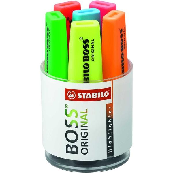 Stabilo Boss Textmarker sortiert Nr. 7006 2-5mm PA 6 Stück
