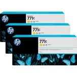 HP Tintenpatrone B6Y34A 771C 775ml gelb 3 St./Pack.