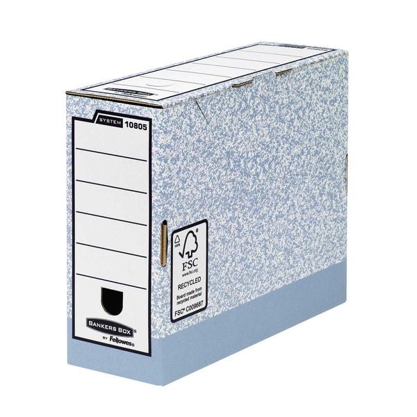 Fellowes Archivbox Bankers Box System Nr. 1080501 10x26x315cm grau/weiß