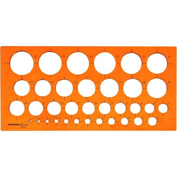 RUMOLD Kreisschablone orange Kunststoff
