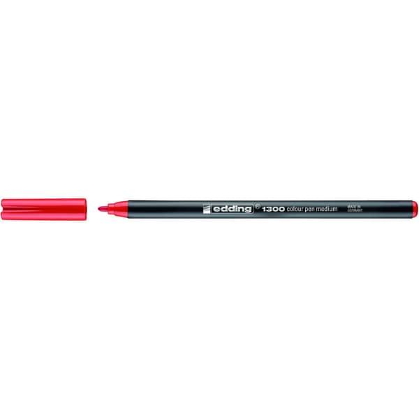 Edding 1300 Fasermaler color pen rot Nr. 4-1300002 Strickstärke ca. 1-3mm
