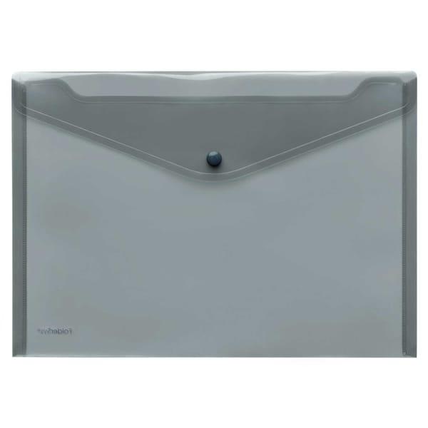 FolderSys Sichttasche A4 quer PP rauch Nr. 40111-24 PA 10St PP Druckknopf