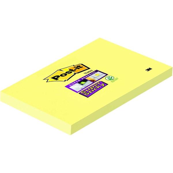 Post-it Haftnotiz Super Sticky 127x76mm 65512SY kanariengelb Block à 90 Blatt