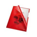 Bene Sichthülle A4 PVC/Hartfolie rot Nr. 205000 RT 150my PA 100Stk