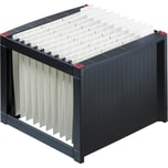 Helit Hängerigstratur schwarz/rot Nr. H6110092 für 40 Mappen 36x26x38cm