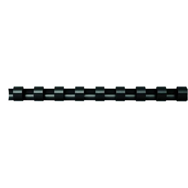 Fellowes Binderücken comb 8mm schwarz Nr. 5345707 A4 PA 100Stk 21 Ringe
