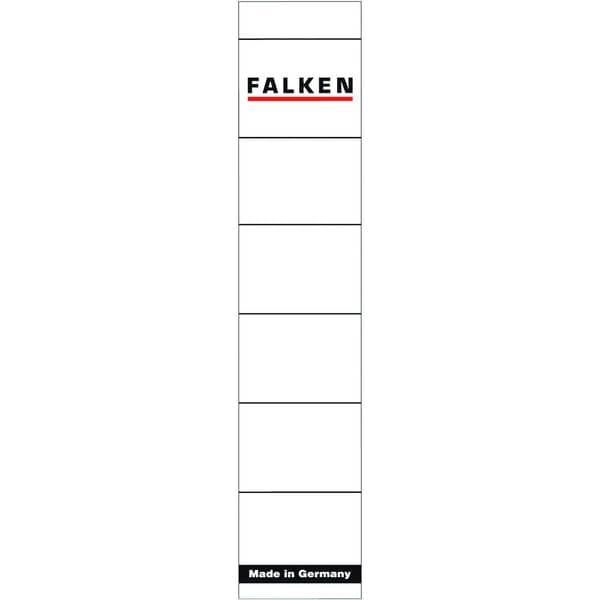 Falken Rückenschild schmal/kurzweiß 80037765 PA 10St sk handbeschreibbar