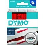 Dymo Schriftbandkassette S0720870 19mmx7m schwarz auf rot45807 D1