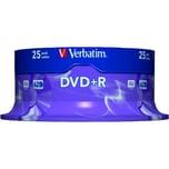 Verbatim DVD+R 47GB 120Min 16x Scratch Resistant Nr. 43500 25er Spindel