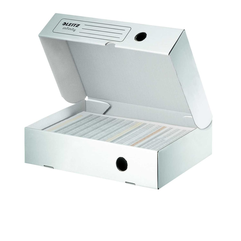 Leitz Archivbox Infinity A4 Weiß Nr. 6100 33X255X8Cm Wellpappe