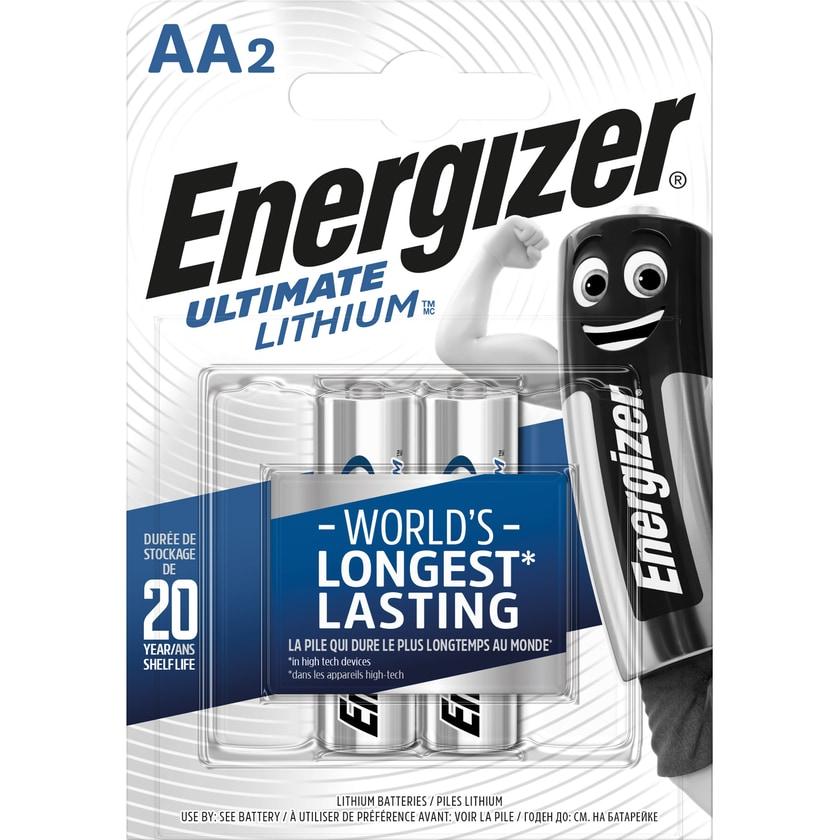 Energizer Batterie Ultimate Lithium Aa Nr. 63915415Vl91Mignon3.000Mah2Stk