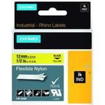 Dymo Rhino Nylonband S0718080 12mmx35m schwarz auf gelb 18490