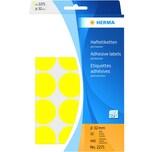 Herma Markierungspunkt 32mm gelb Nr. 2271 PA 480 Stück