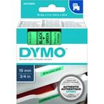Dymo Schriftbandkassette S0720890 19mmx7m schwarz auf grün45809 D1