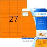 Herma Neon-Etikett Nr. 5141 neonorange PA 540 Stück 635x296mm