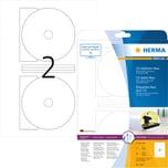 Herma CD/DVD Etikett Nr. 5115 weiß PA= 50Stk.. Ø 116mm. Innenloch 18.5mm